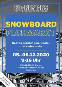 snowboarschule, boardstars, flyer, event, grafikdesign